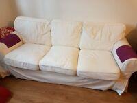 Sofa ( Three-seat sofa EKTORP) 1 year old