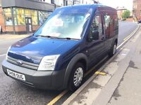 Ford transit connect Tourneo 2009 T230 90 1.8 diesel blue crew cab