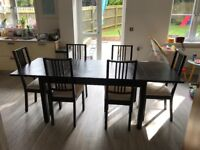 Extendable Ikea dining table and chairs