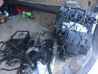 Suzuki GSXR750 WN engine carbs radiator and electrics