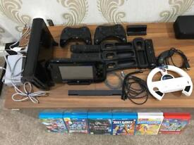 Wii U 32 gb with games , controllers