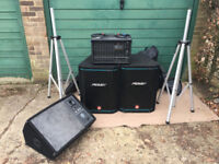 PEAVEY PA System (Power Mixer XRD680s, 2x Hi Sys Speaker and Monitor)