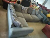 Pale Grey Lovely Corner sofa couch in VGC Delivery Poss