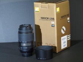 Nikon Nikkor AF-S DX 55-300mm f/4.5-5.6G ED VR, mint condition, boxed