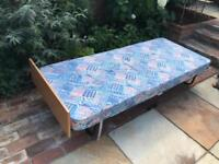 SOLD Folding single bed with mattress