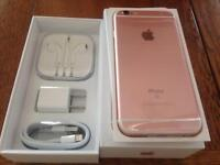 IPHONE 6s ROSE GOLD 32GBGB BRAND NEW BOXED APPLE WARRANTY & shop receipt