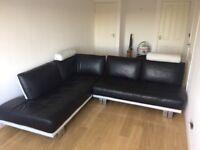 Corner leather sofa, excellent condition