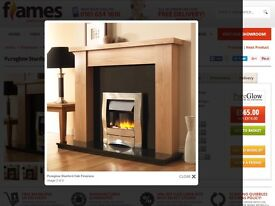 Oak Fireplace with Granite back .Moved house it already has one .