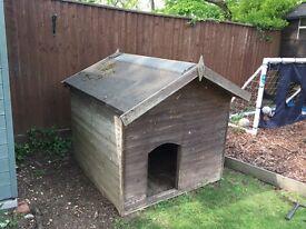 Dog kennel - wooden pet house