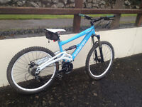 Saracen Downhill Mountain Bike. Full Suspension.