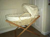Mama's and Papa's moses basket with stand and swing stand
