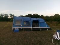 8 BERTH OASIS 8 TENT WITH PORCH, CARPET AND FOOT SHEET
