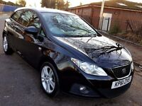 2011 BLACK SEAT IBIZA 1.2 TSI (TURBO PETROL) 24.000 MILES, FULL HISTORY, 2 KEYS, 1 KEEPER