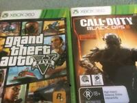 Xbox 360 GTA5 and Call of Duty Black ops 3