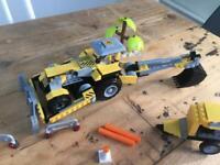 Digger construction set like lego