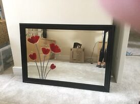 BLACK GLOSS FRAME MIRROR