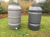 Water Butts. 235 litres each. Ideal for rainwater collection.