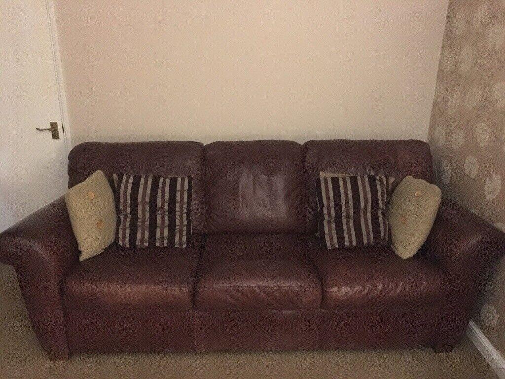Leather 3 Seater Sofa In East Kilbride Glasgow Gumtree