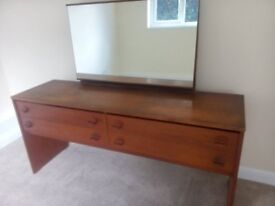 Stag 4 Drawer Dressing Table with detachable Mirror