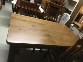 Rustic ok table £350 chairs £80