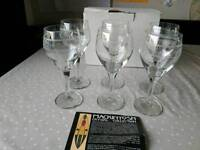 Rennie Mackintosh crystal red wine glasses x6