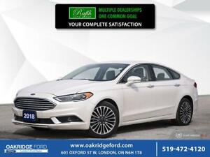 2018 Ford Fusion SE FWD-NAVIGATION - LEATHER- BACK-UP CAMERA - H