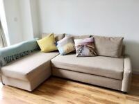 Ikea FRIHETEN Beige Corner Sofa bed storage and chaise can be LEFT or RIGHT