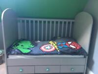 Ikea Cot/Bed with three draws