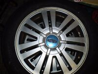 Alloy wheels with excellent tyres 4 x 16 inch 5 stud Factory FORD wheels . Mondeo . C MAX . FOCUS