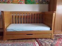Mama & Papas solid oak Ocean cot & toddler bed.