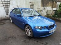 VERY RARE ESTORIL BLUE M-TECH BMW 316TI.. (WONT FIND ANOTHER ONLINE 4SALE)