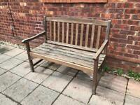 2 hardwood garden benches