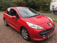 1 year mot no advisory Peugeot 207 1.4 m play new t/belt 57reg low miles 78k