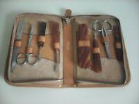 Eight Piece Manicure Set in Pigskin Case