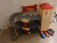 Disney Cars garage and car set