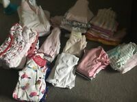 Baby girl summer clothes 0-3 plus two sleeping bags