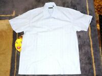 Designer Clothes - Stark Sky Blue/White Check Half Sleeve Shirt Size: XL