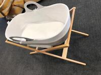 Moba Moses basket and stand - John Lewis