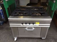 COMMERCIAL CATERING 4 BURNER GAS COOKER FAST FOOD RESTAURANT KITCHEN