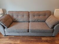 Grey 4 seater sofa large chair footstool