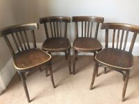 Set of 4 Thonet cafe chairs - BARGAIN!