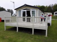 Modern 3 bedroom caravan with verander at Haggerston Castle holiday park