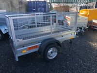 BRAND NEW MODEL 6X4 SINGLE AXLE TRAILER WITH 60CM MESH 750KG