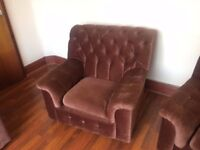 Sofa bed / futon / sofabed / furniture suit retro style, 70s Arm chairs