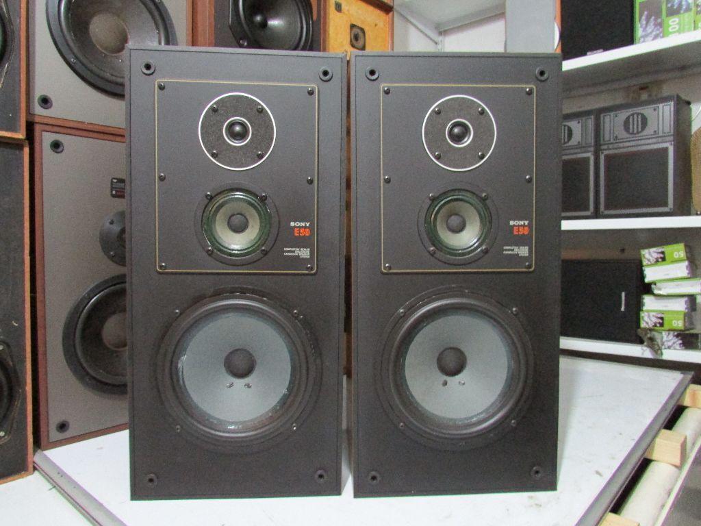 Vintage Sony Speaker System Sony E50 Carbocon System 1979