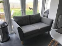 Grey two seater DFS fabric couch