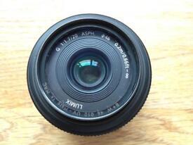 Panasonic Lumix G 20mm f/1.7 ASPH Lens - Mint