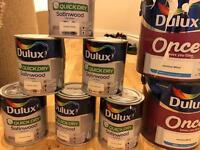 Dulux Satinwood Jasmine White x6.5 & Dulux Natural Calico & Jasmine White Paint
