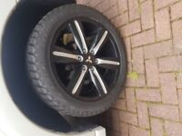"""Shogun 20 """" barbarian genuine alloys fitted with brand new dunlop tyres"""