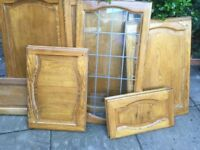15 Real Wood, Quality, Kitchen Cupboard Doors - various sizes see below.